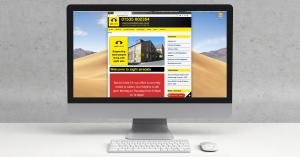 Desktop Computer displaying new website
